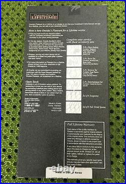 10 Pc Oneida DICKINSON Stainless Flatware Glossy New in Box