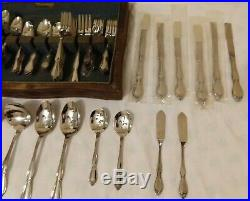 100 Pc Oneida Community CHATELAINE Floral Stainles Steel Flatware Set Service 12
