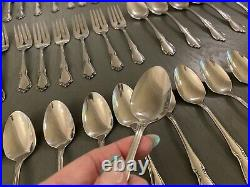 113-piece Lot Vintage Oneida CHATEAU Oneidacraft Deluxe Stainless For 12