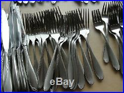 115 Pcs Oneida Stainless Flatware Camber aka Scroll Service for 21 +