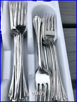 116pcs Oneida Community MARQUETTE Stainless Flatware 24 Place Settings Cube Mark