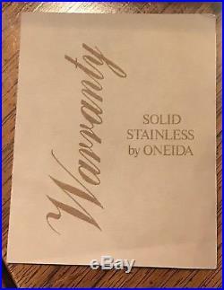117 Pcs Oneida KENNETT SQUARE Stainless Distinction Deluxe Flatware, Never Used