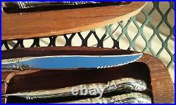 12pc COMMUNITY BY ONEIDA STAINLESS STEEL LOUISIANA STEAK KNIFE SERRATED FLATWARE