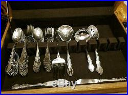 1983 Oneida Stainless 18/20 Heirloom Dover Pattern 64 Pieces with Box