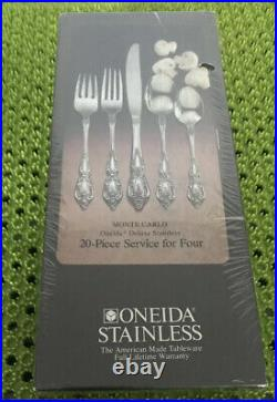 20 Pc NEW Oneida MONTE CARLO Stainless Flatware Set Service For 4 IN BOX