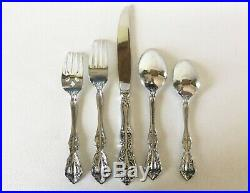 20 Pc Oneida Cube Mark MICHELANGELO 18/10 Stainless Set for 4 PLACE SETTINGS USA
