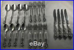20 pc service for 4 ONEIDA cube STAINLESS flatware MICHELANGELO