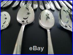 206 Pieces Oneida Community Stainless Flatware TWIN STAR Pattern, MUST SEE LOT