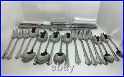 23 Pieces Oneida Julliard Cube Mark Stainless Forks Spoons Knives Mixed Lot