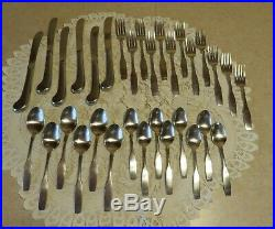 32 Pc ONEIDA Stainless Flatware PAUL REVERE with PISTOL GRIP KNIVES Service for 6