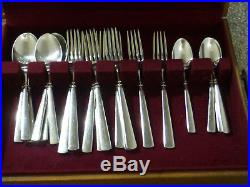 32 Piece Set Of Oneida USA EASTON Stainless Glossy USA Knives, Forks & Spoons