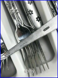 34pcs Oneida DAISY FROST Stainless Flatware EUC