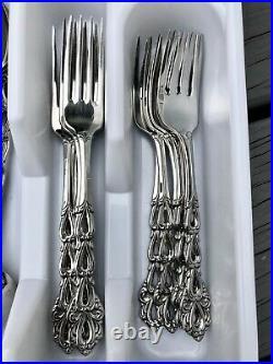 35pc Oneida Community CHANDELIER Stainless Flatware Dinner Forks Serving Pcs EUC