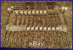 38 Pc. Set Oneida Michelangelo Cube Stainless Flatware Beautiful Cond Free Ship