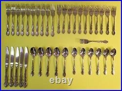 38 Piece Oneida Dover USA Stainless Flatware