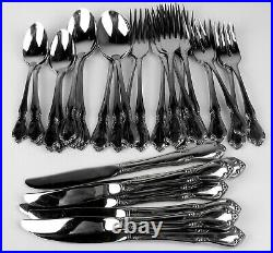 39 Pc Set Oneidacraft Deluxe Stainless Chateau (8 Place Settings less 1 knife)