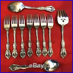 39 piece Service for 6+ Michelangelo by Oneida USA Stainless Steel Flatware