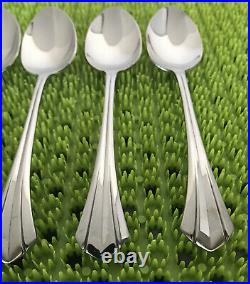 4 Oneida RUSHMORE Teaspoons Stainless Flatware Glossy