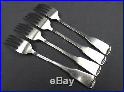 4 x Oneida American Colonial Cube Stainless Dinner Fork 7 1/4