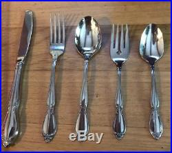 40 Pc Oneida Community Chatelaine Stainless Flatware Set -Service For 8 Clean