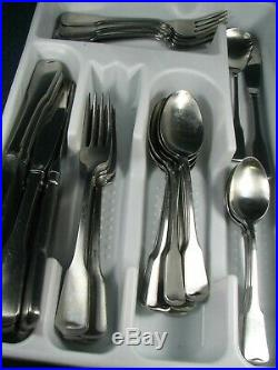 40 Piece American Colonial Oneida Cube Stainless Satin Flatware