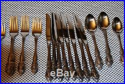 40 Piece Service for 8 RENOIR PEMBROOKE Oneida USA Stainless Flatware MINT