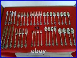 40 Pieces Oneida Michelangelo Cube Stainless Flatware Set Service for 4
