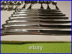 40 pcs Oneida Stainless Steel Bancroft Lot Knives Forks Spoons Serving Flatware