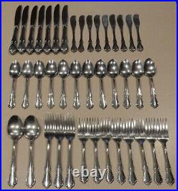 41 PC Oneidacraft Deluxe Oneida CHATEAU Stainless Flatware Set Pre-owned