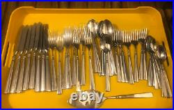 41 Piece Oneida Easton USA Stainless Mixed Flatware Glossy Service For 8