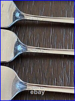 42 Pieces Oneida BANCROFT Stainless Flatware, Place Settings. Excellent