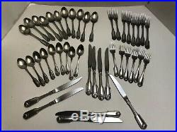 43 Pc Stainless Oneida Cube Heirloom CLASSIC SHELL Flatware Mixed Lot