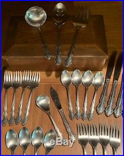 43 Piece Oneida Dover Cube Mark Stainless Steel Flatware