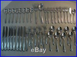44 PC (SERVICE FOR 8) Oneida USA BANCROFT Stainless Flatware VGUC #A3