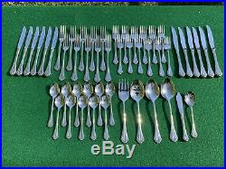 44 pc. ONEIDA COMMUNITY MARQUETTE STAINLESS, CUBE MARK