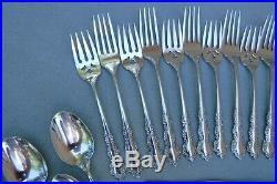 44pc Oneida Shelley Stainless Steel Flatware for 8 Cube Backstamp