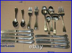 45 Oneida Cube AMERICAN COLONIAL Stainless Flatware Set Service 8 + Serving Pcs
