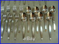45 PC (SERVICE FOR 8 PLUS) Oneida Community FROSTFIRE Stainless Flatware NICE