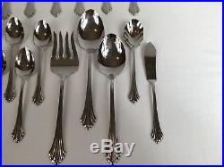 45 Pc Oneida Stainless Flatware BANCROFT 18/8 USA Service for 8 + Serving Set