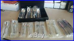 45 Piece Set Oneida Community Stainless Flatware Set. New Still In sealed bag