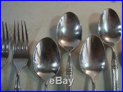 46 PC(SERVICE FOR 8) Oneida Cube SHERATON Stainless Flatware NICE