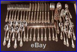 46 Piece Oneida Michael Angelo Stainless Pierced Silverware 8 Place Serv + Xtras
