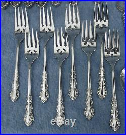 47 PC Oneida Cube SHELLEY STAINLESS FLATWARE SET 5 Place Settings Service for 8