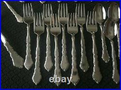 47 Pcs! Serves 8 Oneida Satinique Community Stainless Extra Tea's & Dinner Forks