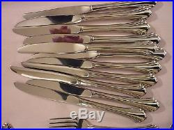 47 Pieces BANCROFT by Oneida USA 18/8 Stainless Excellent Condition