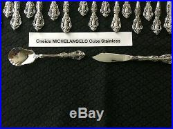 47 Pieces Oneida Michelangelo CUBE Stainless Service for 8 Includes 7 Hostess