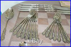 48 Pcs Service For 8 Oneida Cube SHELLEY Stainless Steel Flatware With Serving