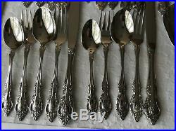49 Pcs (many new) Service For 8 Oneida Community Brahms Stainless Has 9 Servers