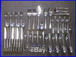 49 pc ONEIDA COMMUNITY GOLDEN JULLIARD STAINLESS FLATWARE PLACE SETTING FOR 8