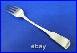 5 Oneida AMERICAN COLONIAL Satin Cube Stainless Flatware 7 1/4 DINNER FORKS